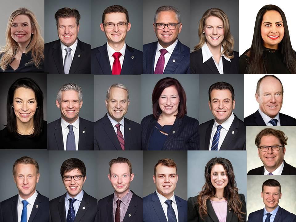 加拿大亞省聯邦、省、市議員向法輪大法學會發來賀信,恭祝2020年法輪大法日。(大紀元)