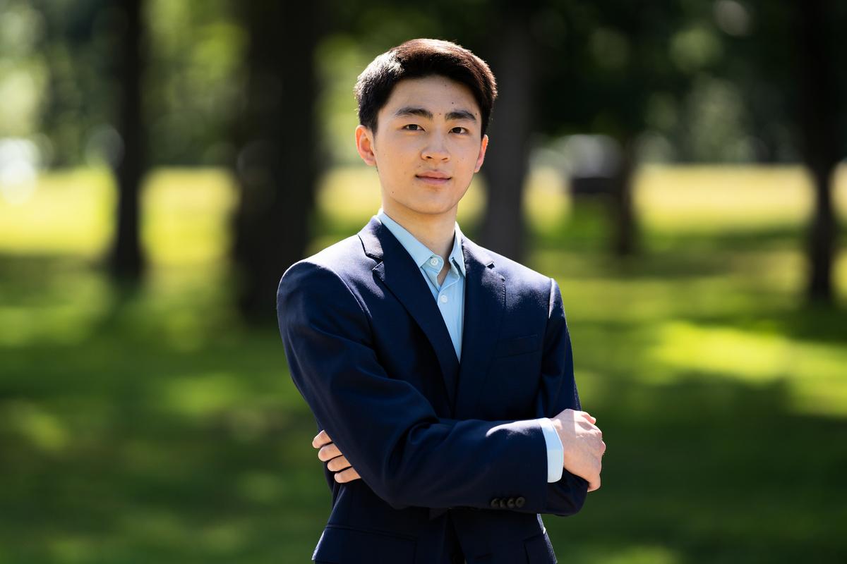 來自紐約飛天藝術學院的第九屆全世界中國古典舞大賽選手胡昊清。(戴兵/大紀元)