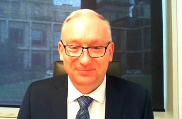 2021年4月23日,維州立法會議員林布里克(David Limbrick)在視像採訪中表示,支持澳洲廢除「一帶一路」協議。(影片截圖)