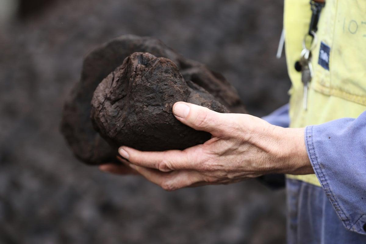 圖為發電用的澳洲煤炭。(Robert Cianflone/Getty Images)