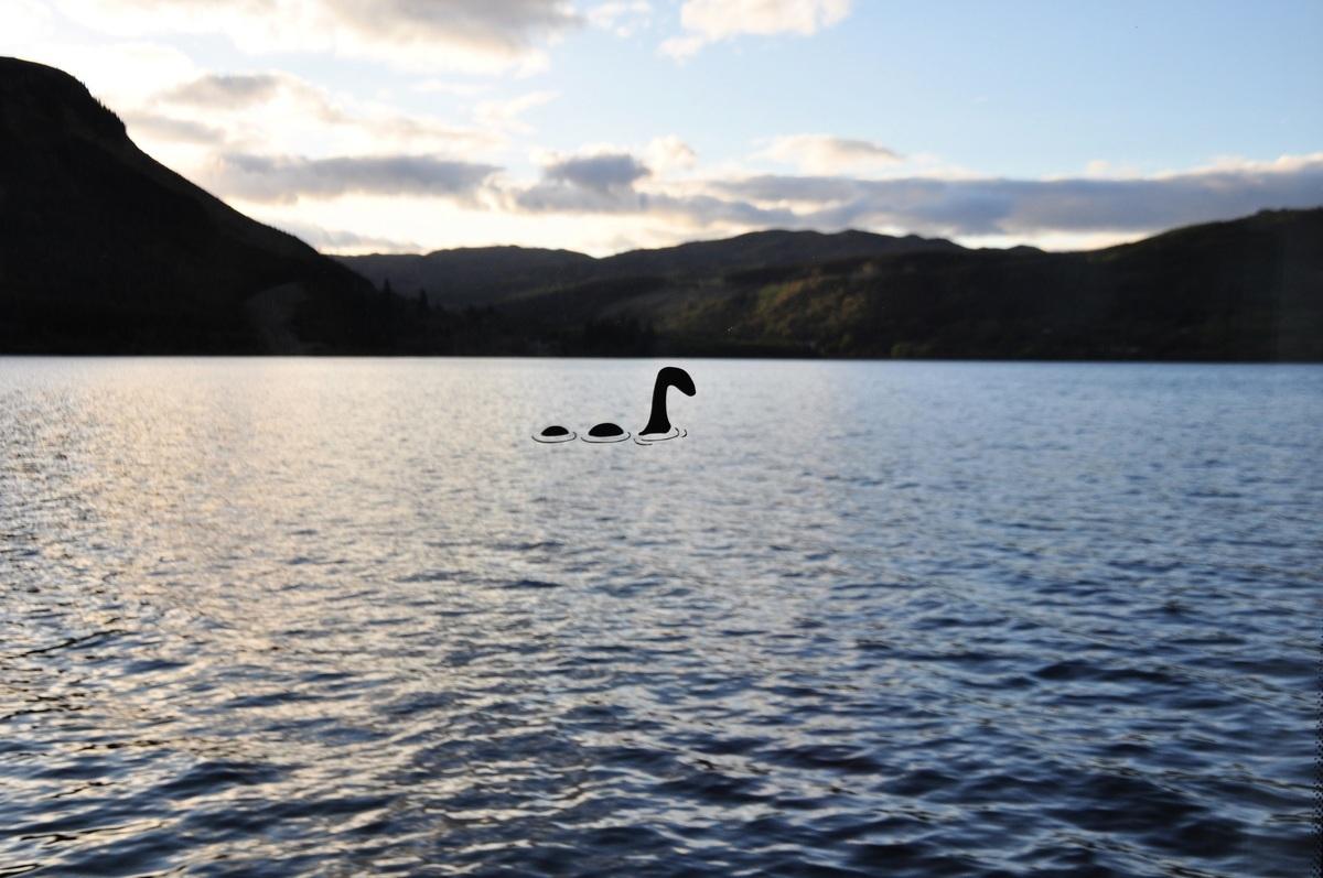 大陸一名女子藉由網絡攝影機看到英國尼斯湖水怪的目擊報告,已被登錄在官方網站上。此為尼斯湖水怪的示意圖。(Shutterstock)
