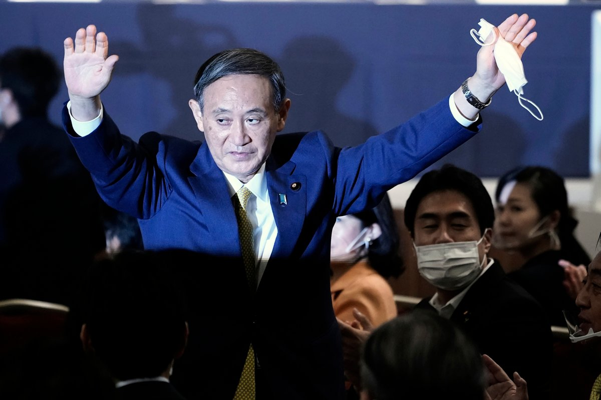 日本新任首相菅義偉。(Eugene Hoshiko - Pool/Getty Images)