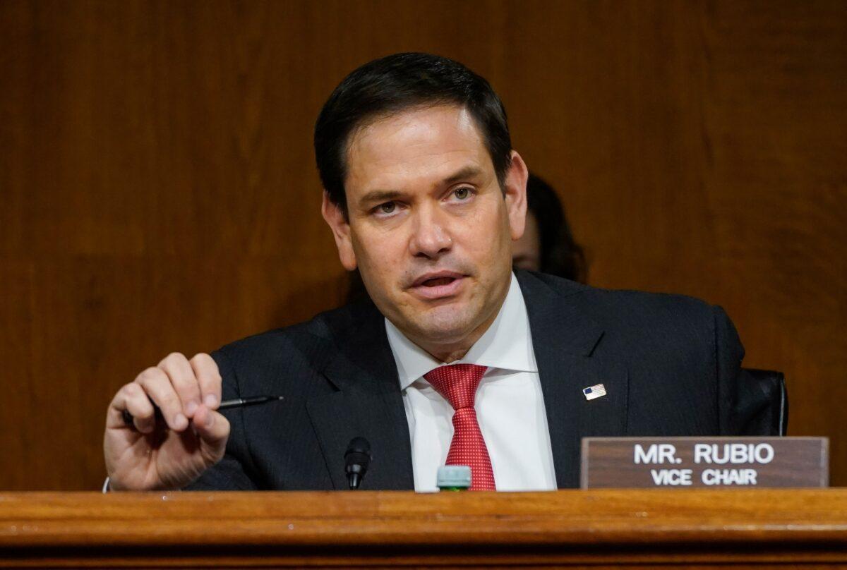 美國聯邦參議員魯比奧資料照。(Drew Angerer/Pool/AFP via Getty Images)