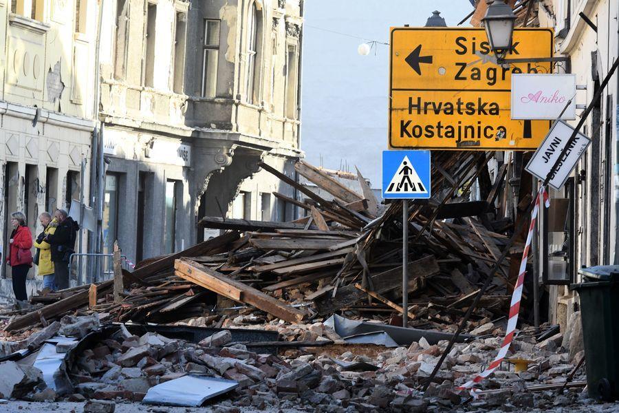 組圖:克羅地亞強震 目前至少7人死亡