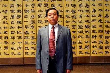 原中國知名書法家劉錫銅(明慧網)