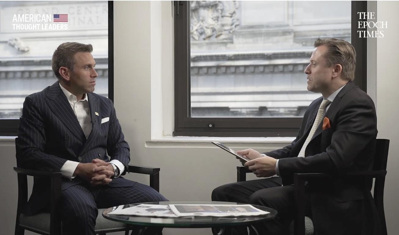6月5日,特朗普總統 2020競選諮詢委員會成員傑森‧邁斯特(Jason Meister)接受了英文大紀元資深記者揚‧耶凱利克(Jan Jekielek)的專訪。(影片截圖)