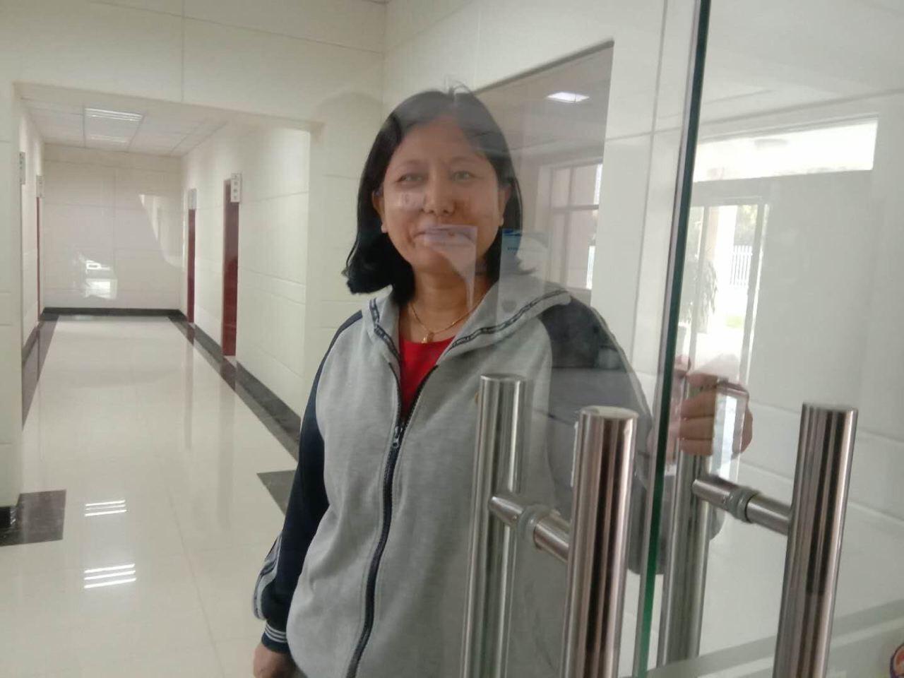 2020年10月7日,維權律師韓慶芳因舉報邢台官員被報復行拘10日。(受訪者提供)