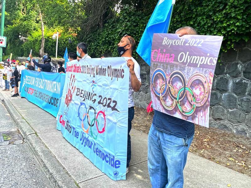 抵制北京冬奧|溫哥華8團體集會 響應「全球行動日」