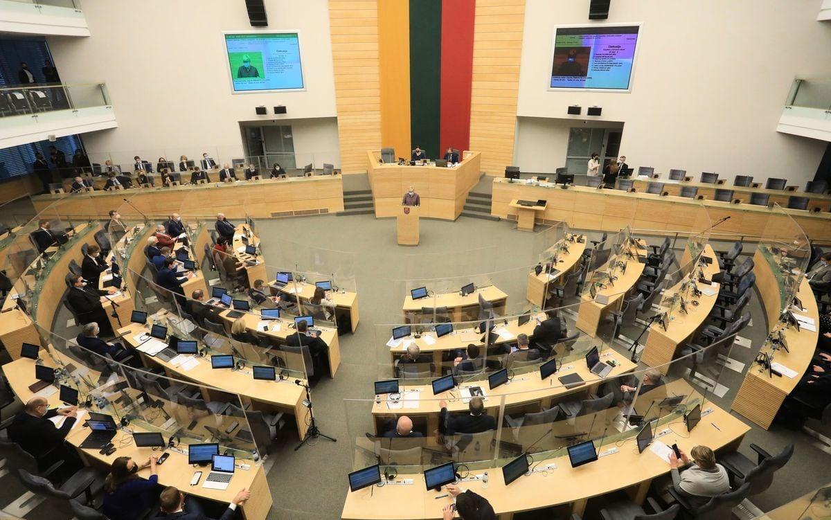 2020年12月11日,立陶宛維爾紐斯的議會。(PETRAS MALUKAS/AFP via Getty Images)