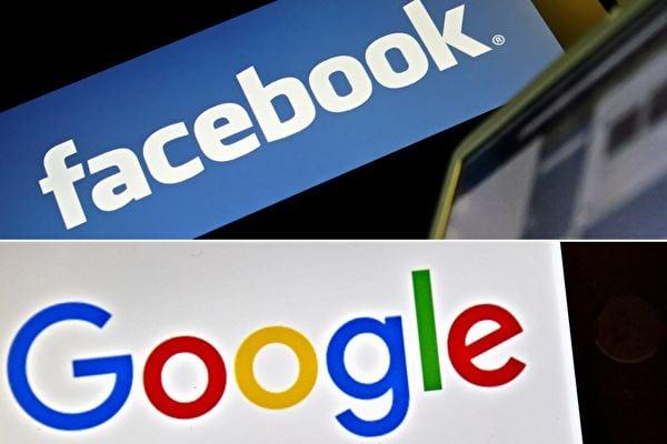 澳洲政府本周將討論世界上首部媒體業公平交易規範,要求谷歌和面書等社交媒體平台必須向澳洲媒體機構支付原創新聞費用。(LEON NEAL,LOIC VENANCE/AFP via Getty Images)