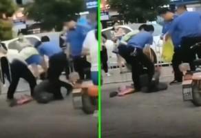 【現場影片】河北城管毆打擺攤老人 隊長被免職