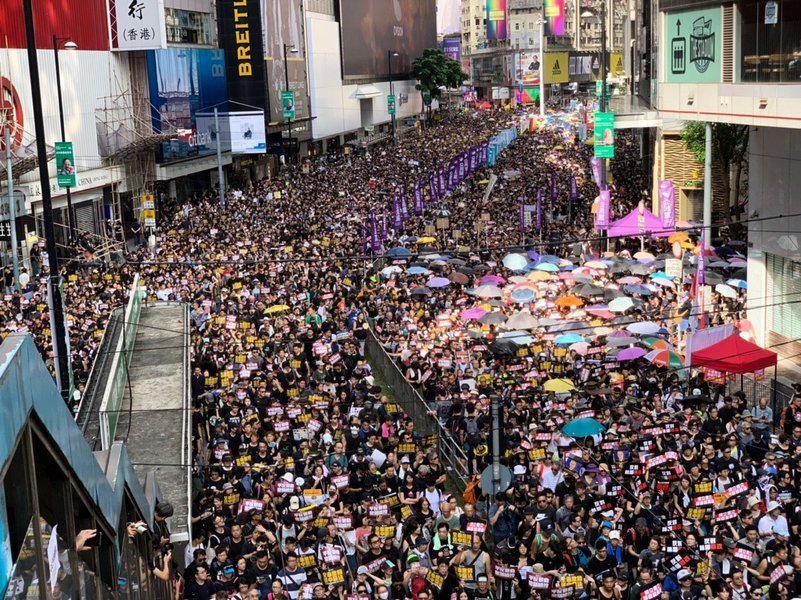 「守護香港」 上海人見證2019年百萬人大遊行