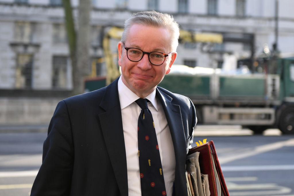英國內閣大臣高文浩(Michael Gove)在媒體公開表示,中共政權應該為英國沒有及時展開大規模測試負責,這可能導致兩國之間外交緊張加劇。(Chris J Ratcliffe/Getty Images)