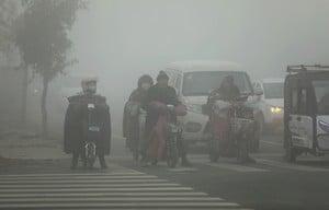 陰霾襲華北黃淮 北京等55城發重污染預警