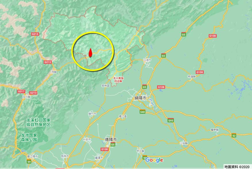 五天7震 四川綿陽北川縣又連續2次地震