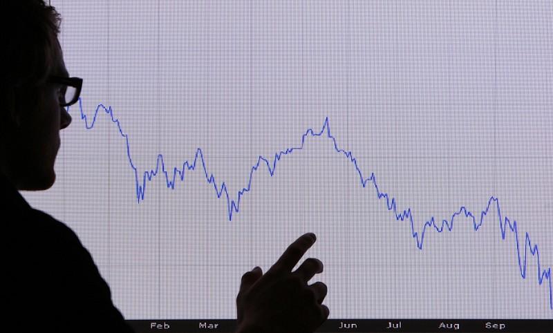 英國FTSE 100走勢圖。(Macdiarmid/Getty Images)