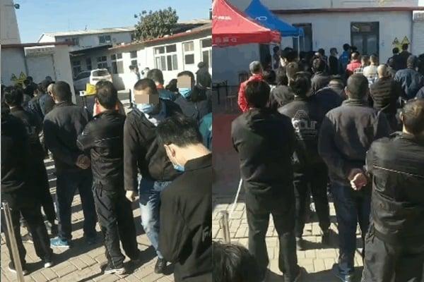 11月9日,天津市宣佈進入戰時狀態。圖為核酸檢測現場。(受訪人提供)