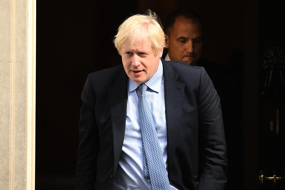 英國首相約翰遜2020年4月12日出院,他於3月27日確診感染中共病毒後,一度病勢危急。(Getty Images)