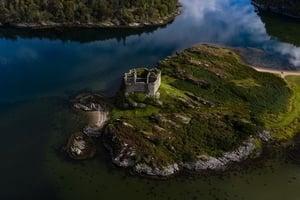 蘇格蘭小島擬拍賣 附贈古堡僅8萬英鎊起跳