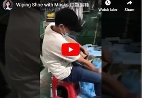 大陸口罩擦鞋影片瘋傳「中國製造」遭打臉