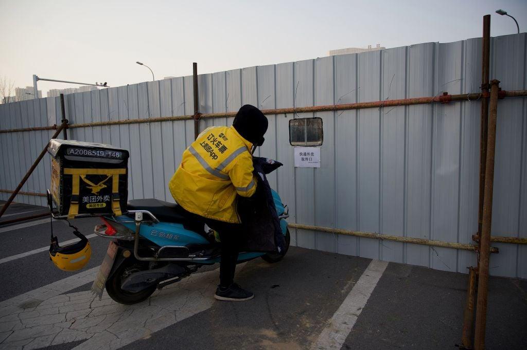 北京大興疫情不斷升溫。圖為大興區被封閉管理現狀。(NOEL CELIS/AFP via Getty Images)