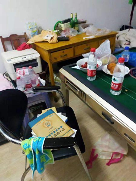四瓶頸方在郭宏偉生前房間翻箱倒櫃,抄走所有材料和證據並綁架謝燕益律師。(受訪者提供)