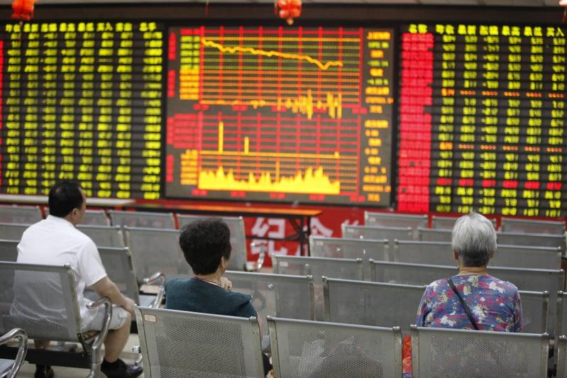 大陸股市2020年3月13日三大股指齊跌,北上外來資金流出創下新高。圖為資料照。(Getty Images)