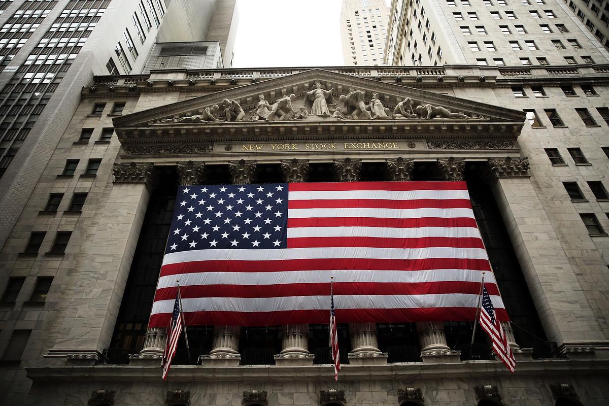 圖為紐約證券交易所。 (Spencer Platt/Getty Images)