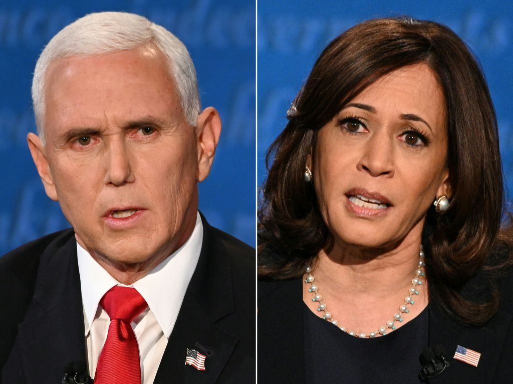 2020美國大選,唯一一場副總統候選人辯論會2020年10月7日晚間9:00(美東)在鹽湖城登場。(ERIC BARADAT,ROBYN BECK/AFP via Getty Images)