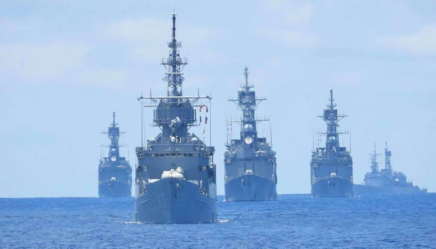 台四艘紀德艦罕見同框 模擬迎擊中共軍隊犯台