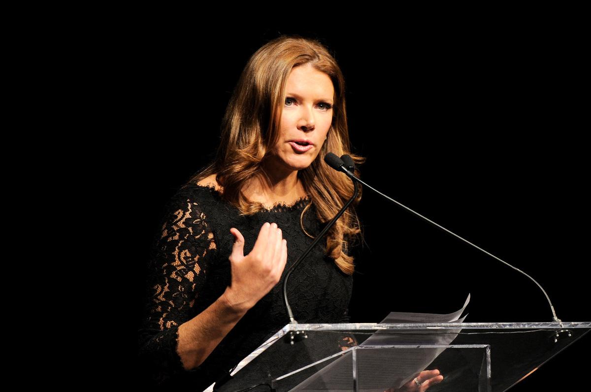 霍士商業網絡電視(Fox Business Network)女主播崔西・列根(Trish Regan)。(Craig Barritt/Getty Images for Jefferson Awards Foundation)