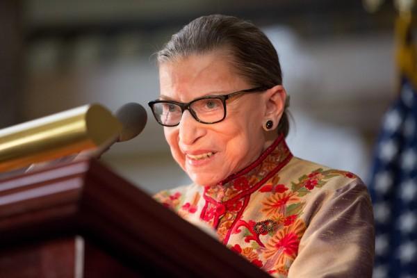 圖為美國最高法院大法官金斯伯格(Ruth Bader Ginsburg),9月18日去世。(Allison Shelley/Getty Images)