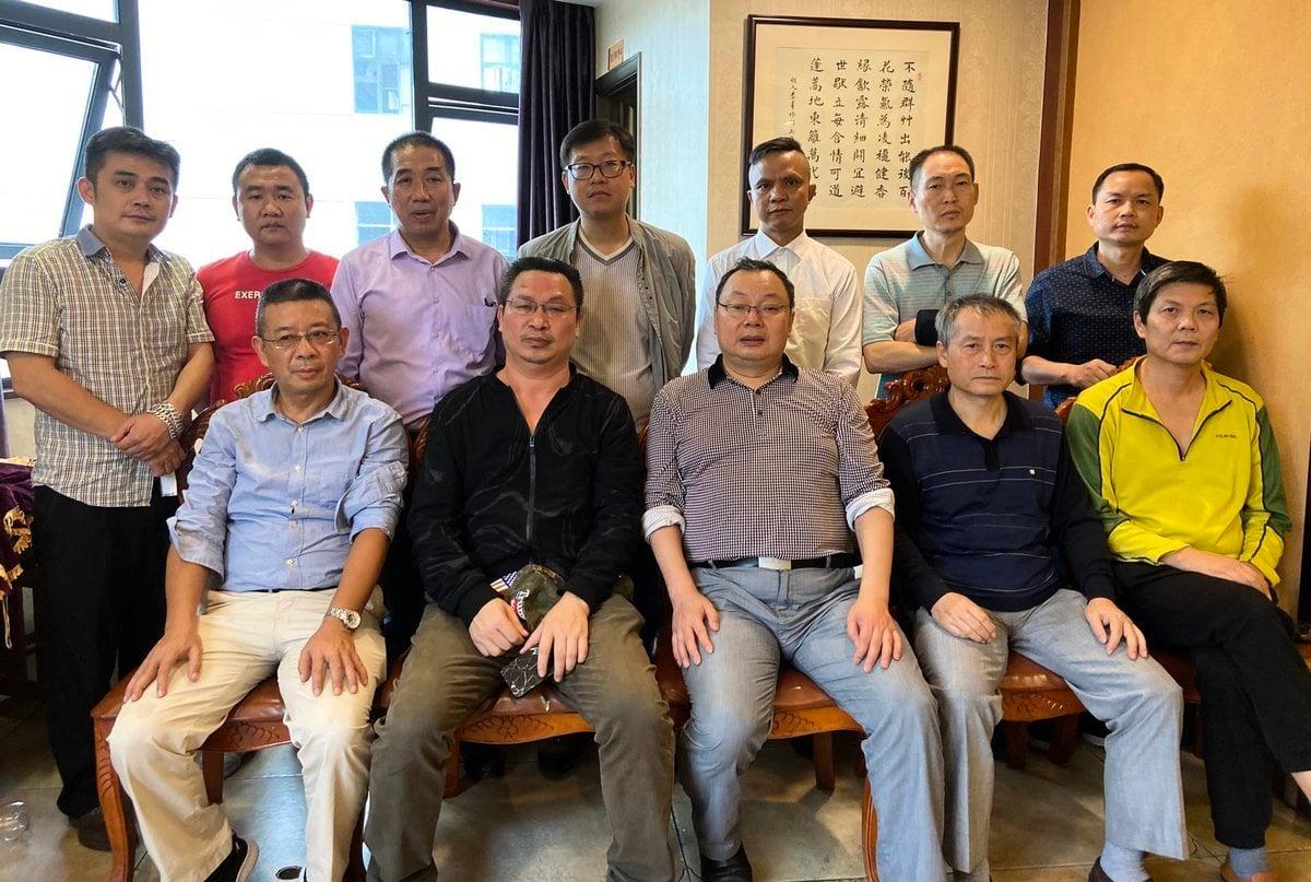近日,原貴州大學經濟學院教授楊紹政游訪湖南,期間與當地朋友聚會。與會的多人2020年9月27日遭當地國保約談。(推特圖片)