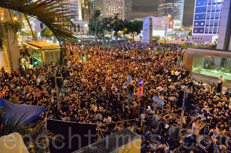 【8.16反送中】6萬人遮打花園集會 促國際關注香港