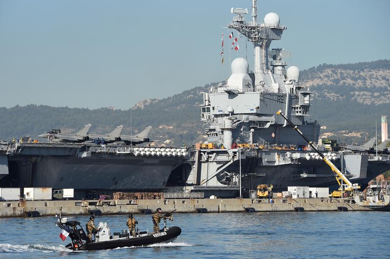 法國戴高樂航母50海員染疫 感染原因不明