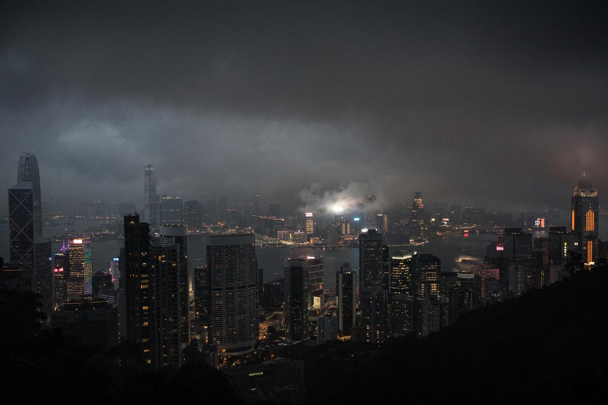 香港即將面臨又一場風暴。(Getty Images)