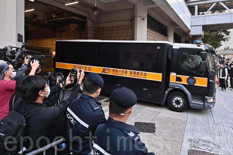 2021年2月18日,被控欺詐及違反《港區國安法》的壹傳媒黎智英,今(18日)向高等法院申請保釋,但遭拒絕,需繼續收押。(宋碧龍/大紀元)