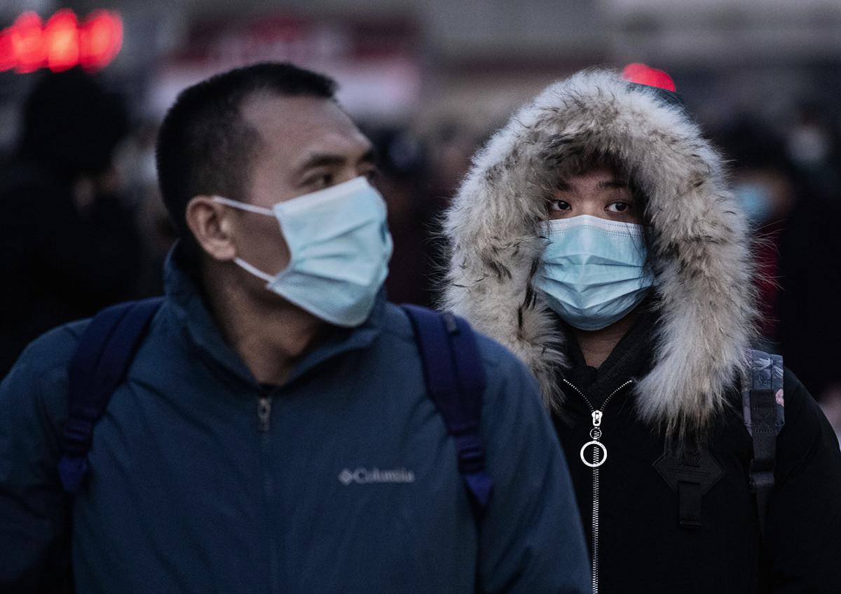 中共肺炎疫情已在大半個地球傳播,圖為2020年1月21日的北京:中共肺炎令人們憂心忡忡。(Kevin Frayer/Getty Images)