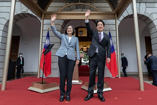 5月20日,中華民國第15任總統蔡英文、副總統賴清德在總統府就職。加拿大駐台北貿易辦事處以及多位參眾議員、智囊等推過社交媒體等方式表示祝賀。左起總統蔡英文、副總統賴清德。(總統府提供)