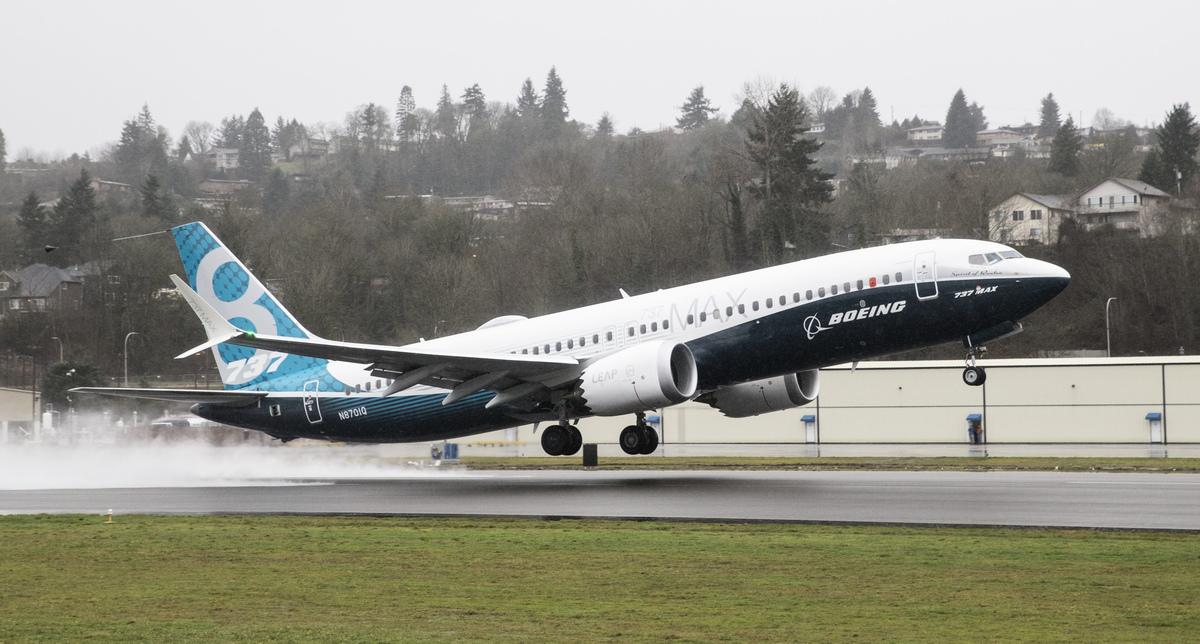 被多國停飛的波音737 MAX 8客機。(Stephen Brashear/Getty Images)