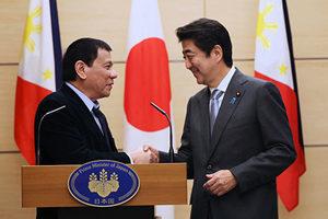 菲總統訪日 在中日美之間玩平衡?