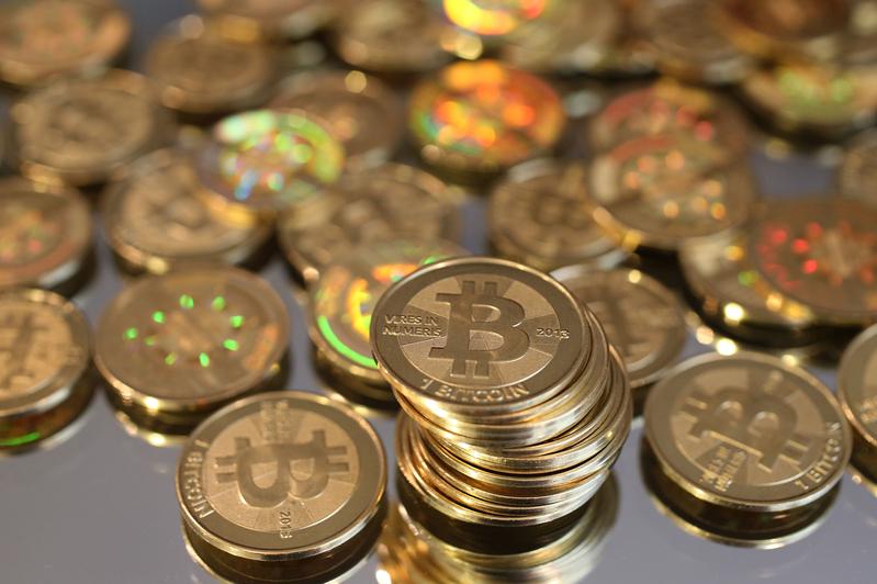 加密貨幣示意圖。(George Frey/Getty Images)