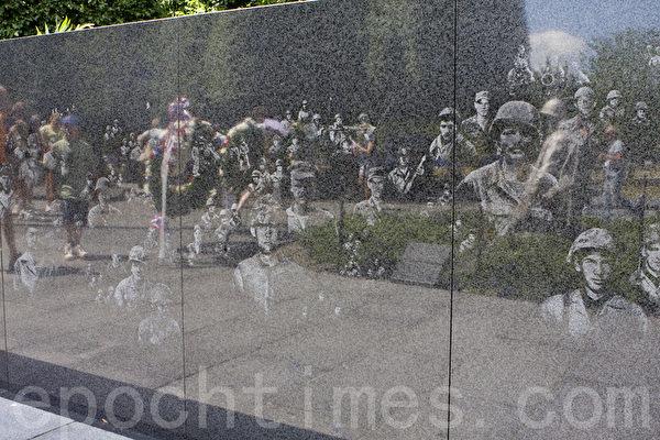 美國首都華盛頓韓戰紀念碑。(李莎/大紀元)