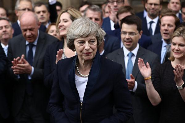 英國首相文翠珊。(Carl Court/Getty Images)