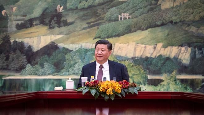 中共改革開放40周年紀念大會上,習近平警告,中國未來可能遇到「難以想像的驚濤駭浪」。(Fred Dufour-Pool/Getty Images)