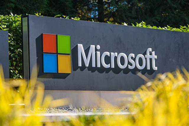 美國科技公司微軟(Microsoft)的標誌。(馬有志/大紀元)