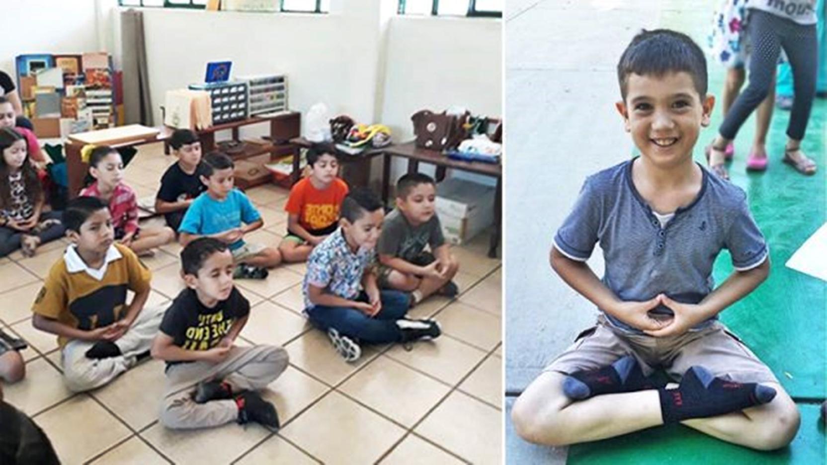 瓜薩維蒙特梭利學校安排一周一次的「和平教育」課程,對孩子們有很好的影響。(瓜薩維蒙特梭利學校提供)