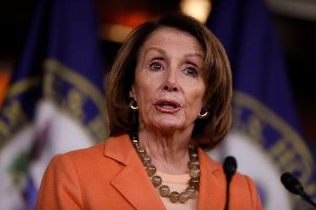 民主黨人南希·佩洛西(Nancy Pelosi)周四(1月3日)當選為美國眾議院新一任議長。(Aaron P.Bernstein/Getty Images)