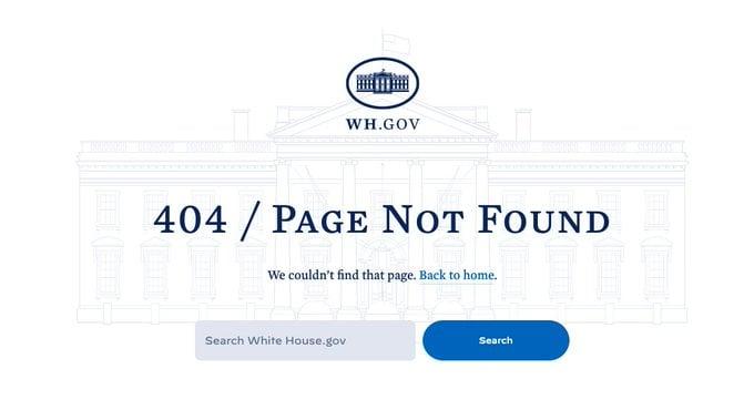 美國當選總統祖·拜登(Joe Biden)上任第一天(1月20日),從白宮網站撤下前總統特朗普的「1776委員會」介紹網頁,這是一項旨在從愛國主義角度教授歷史的項目。(白宮網站截圖)