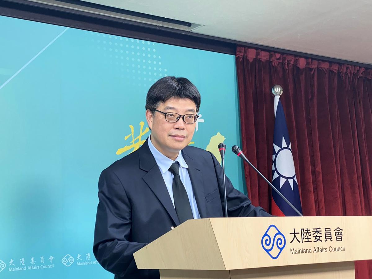 台灣陸委會發言人邱垂正資料圖。(中央社)